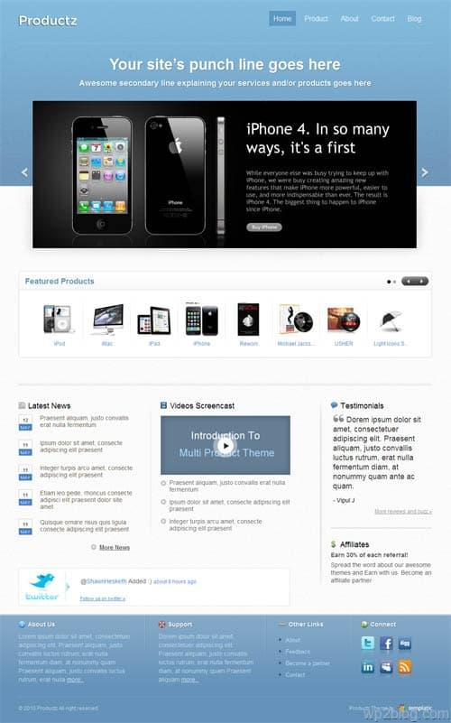 productz wordpress theme