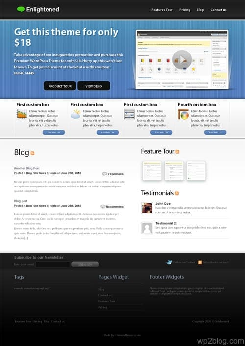 enlightened wordpress theme