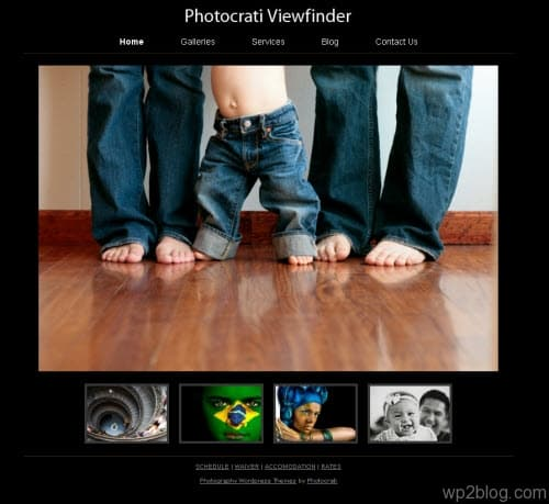 Photocrati Viewfinder wordpress theme
