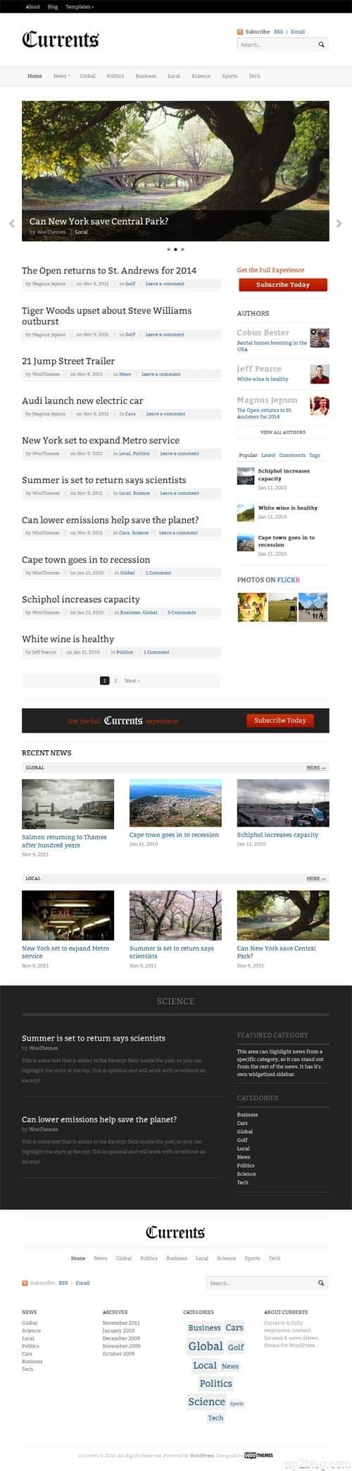 Currents Premium WordPress News Theme