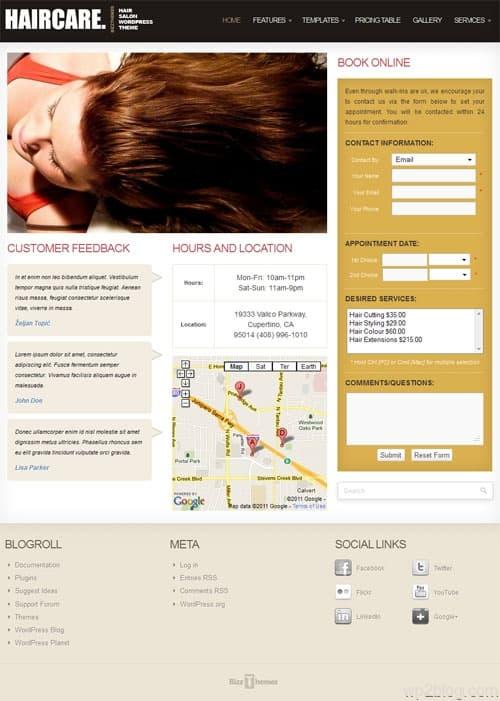 Hair Care Salon WordPress Theme