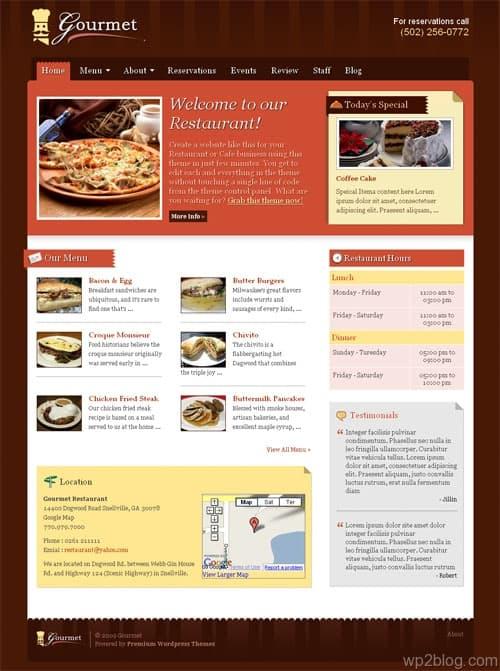 gourmet wordpress theme