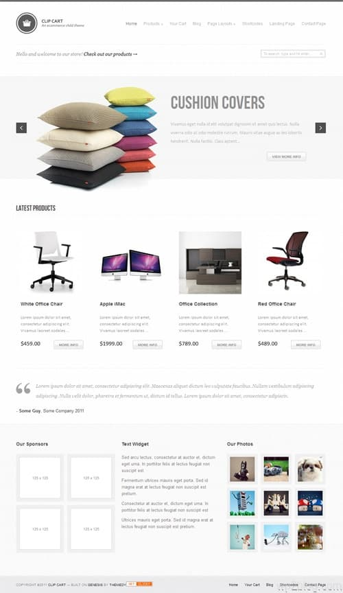 Clip Cart Ecommerce WordPress Theme