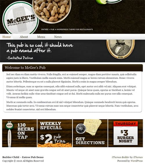Pub WordPress Theme