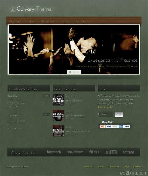 Calvary Church WordPress Theme