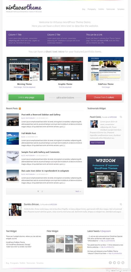 Virtuoso Portfolio WordPress Theme