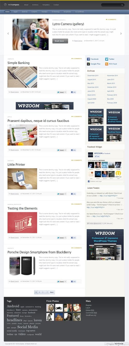 TechCompass Premium WordPress Theme