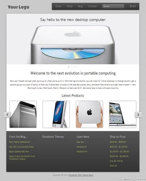 Storefront Echo WordPress Theme