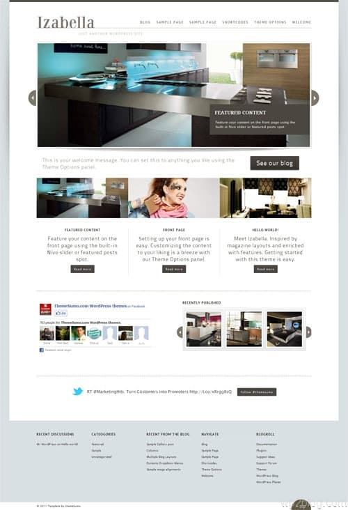 Izabella Magazine WordPress Theme