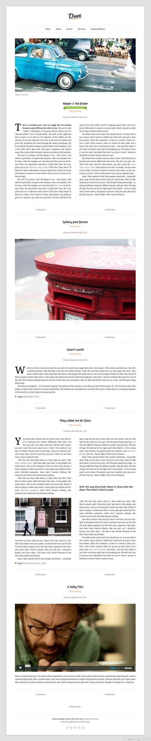 Duet Premium WordPress Theme