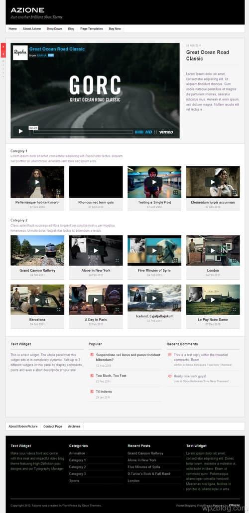 Azione WordPress Theme