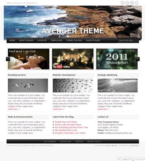 Avenger WordPress Theme