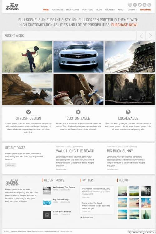 Fullscene WordPress Theme