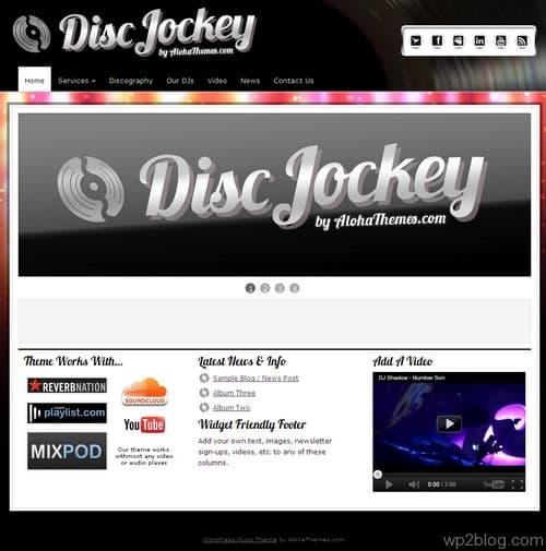 Disc Jockey WordPress Theme