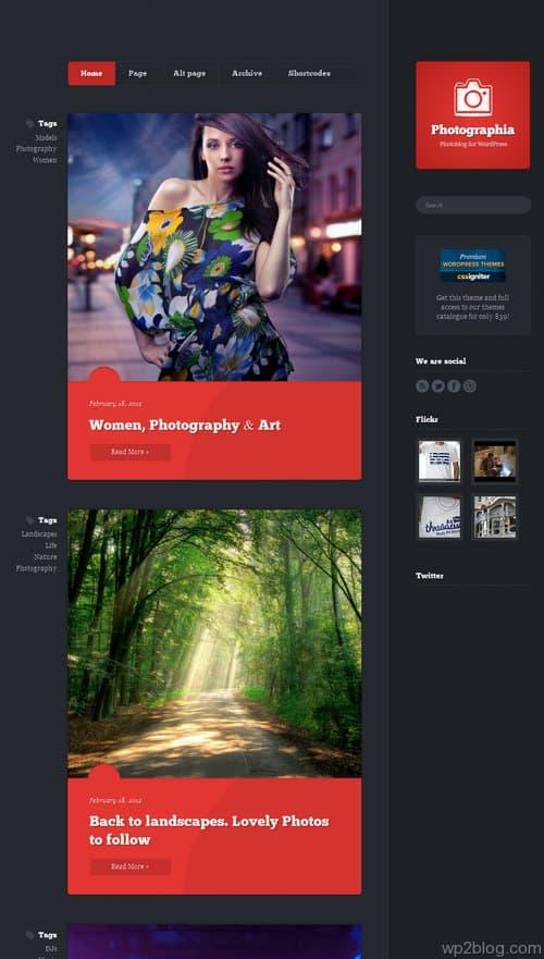 Photographia WordPress Theme