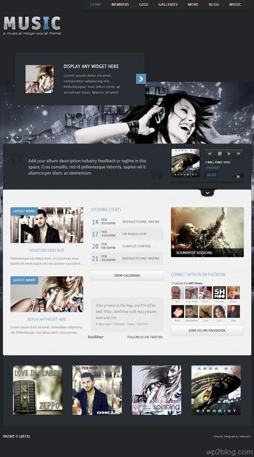 Music- Musicians theme & Facebook App