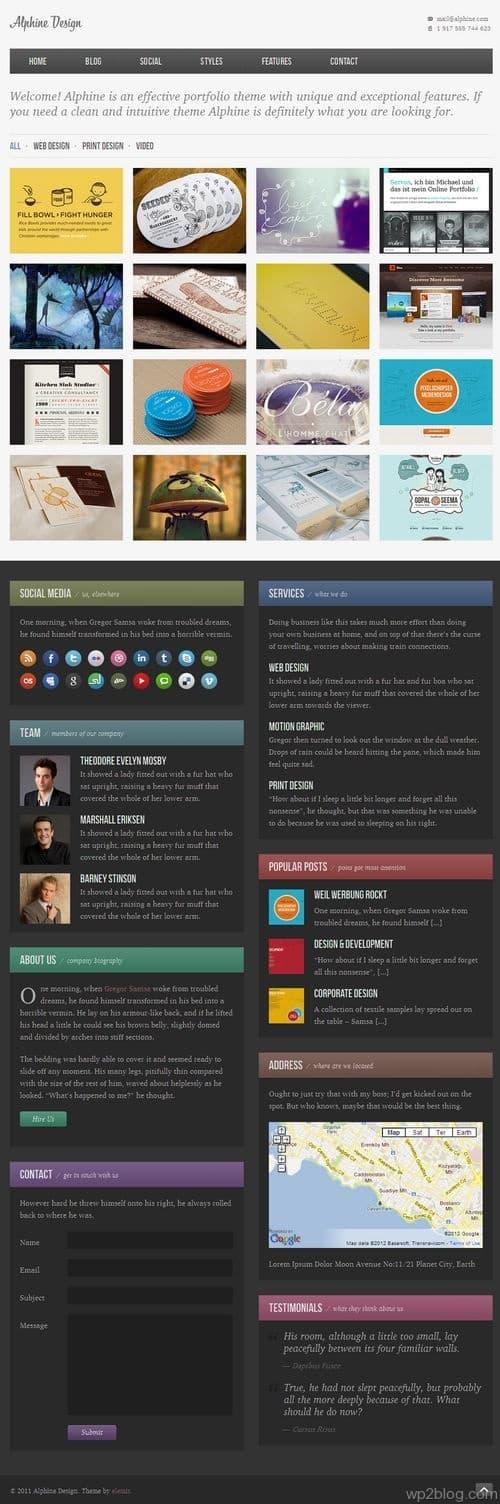 Alphine WordPress Theme