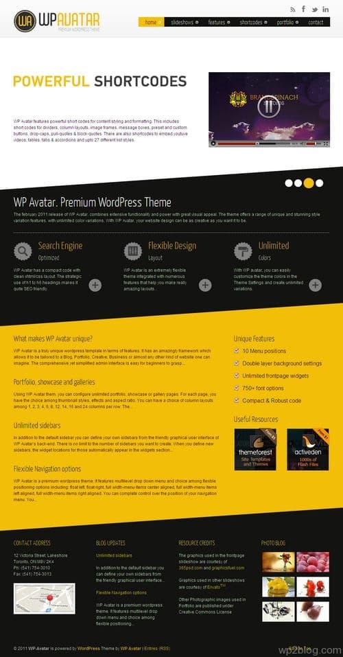 WP Avatars WordPress Theme