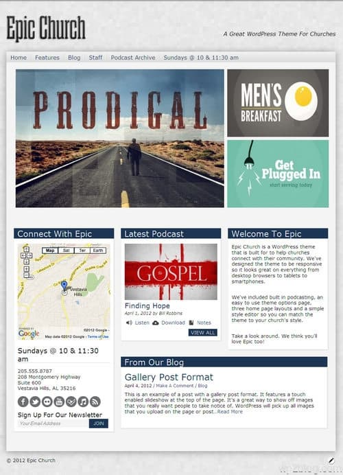 Epic Church WordPress Theme