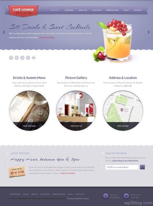 Coffee Lounge WordPress Theme