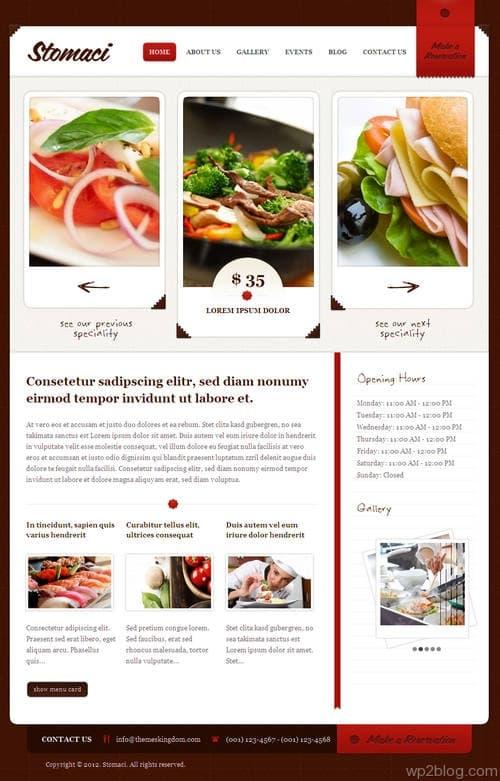 Stomaci WordPress Theme