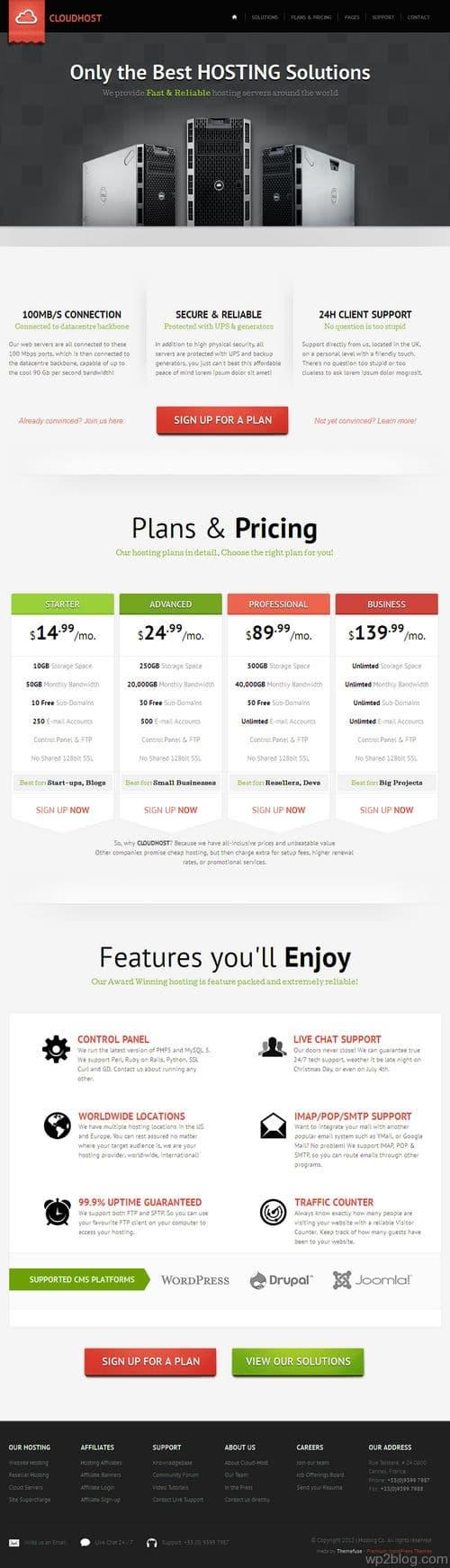 CloudHost WordPress Theme