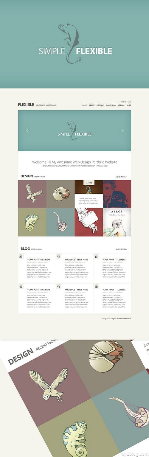 Flexible WordPress Theme Preview