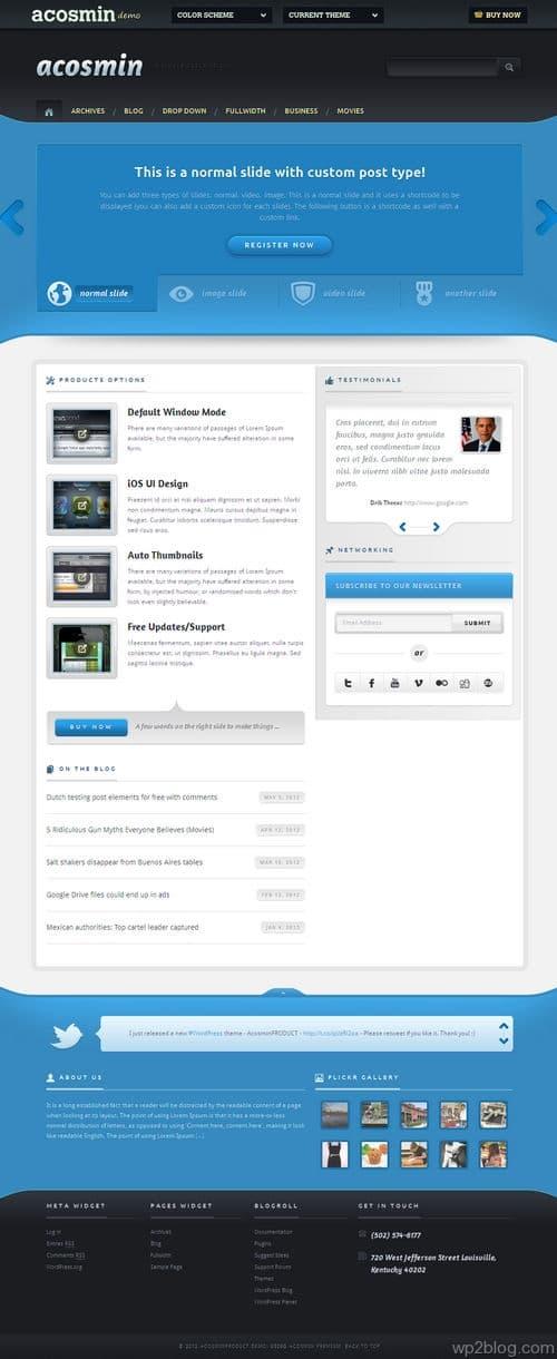 Acosminproduct WordPress Theme