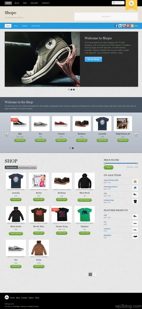 Shopo WordPress Theme