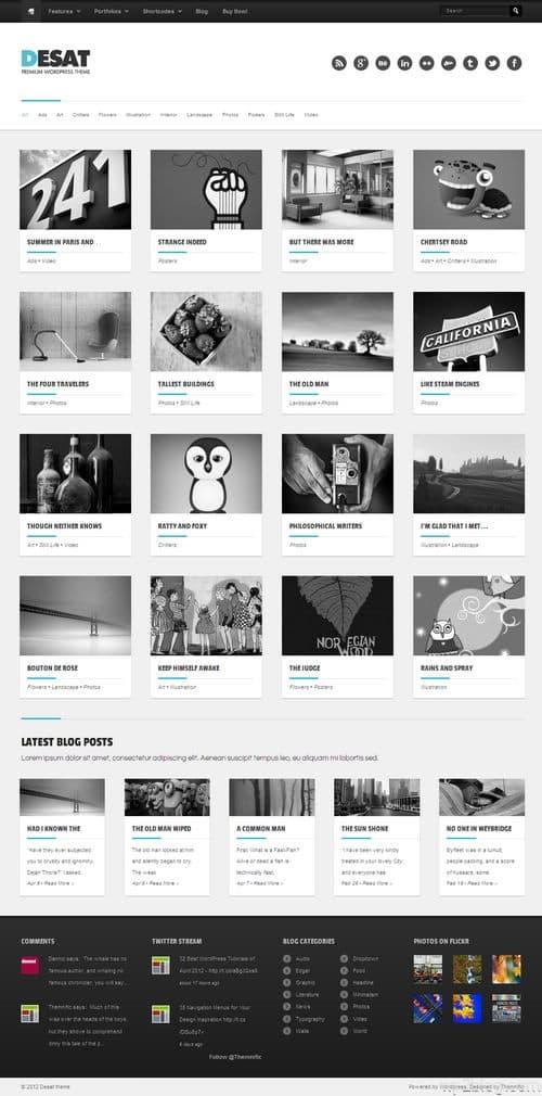 Desat WordPress Theme