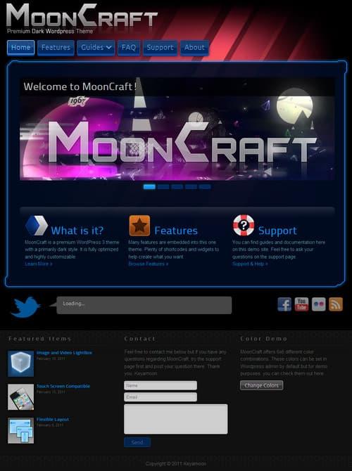 MoonCraft Premium WordPress Theme
