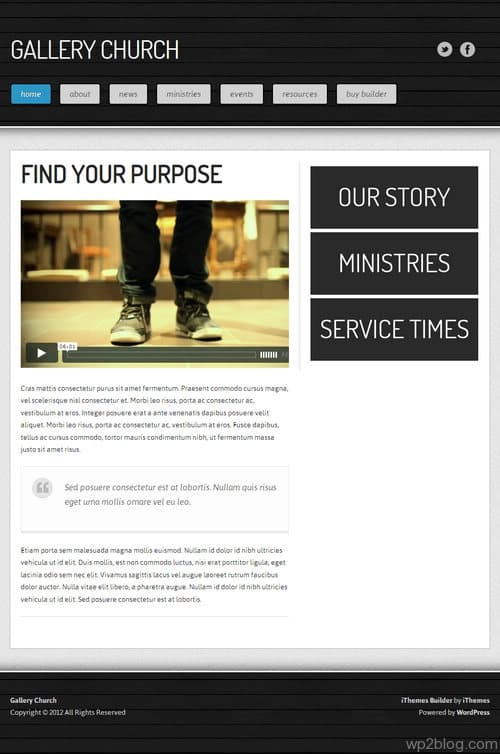 Gallery Church WordPress Theme