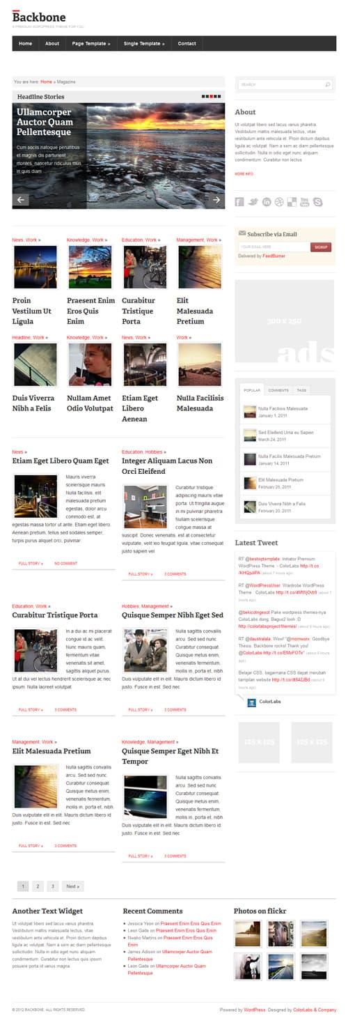 backbone magazine layout