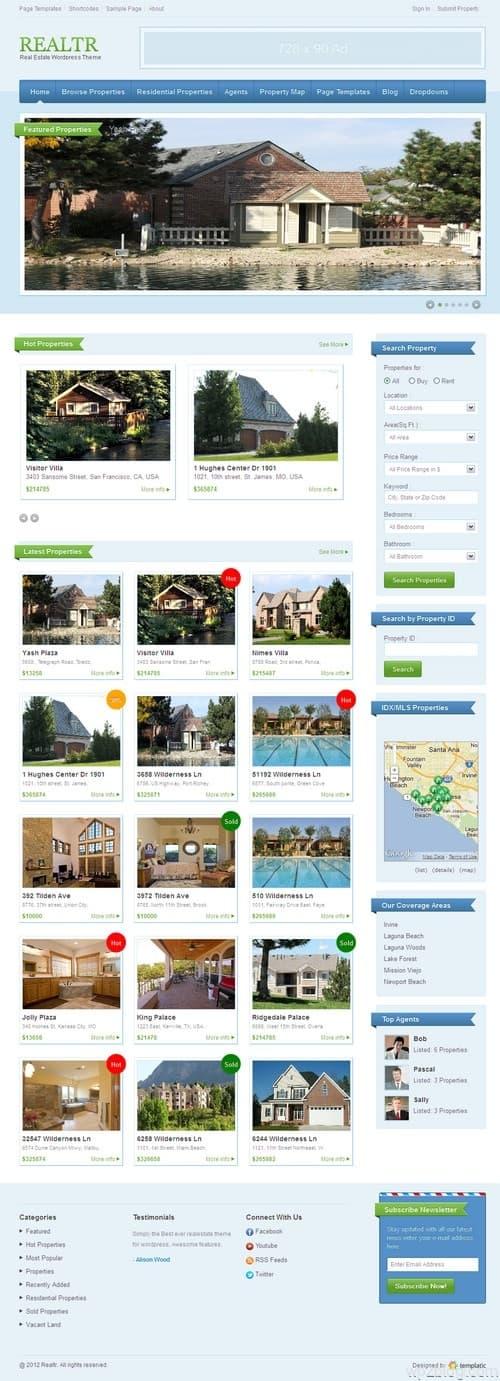 Realtr Real Estate WordPress Theme