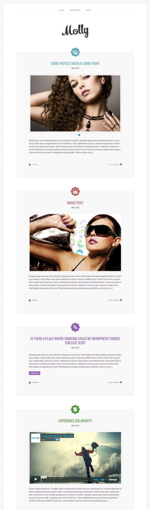Molly WordPress Theme