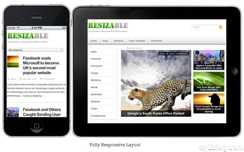 Resizable Fully Responsive Layout