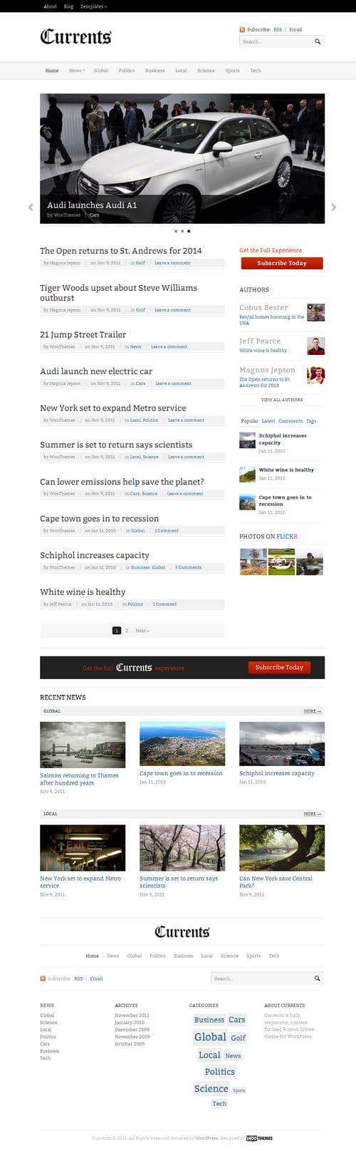 Currents WordPress Theme