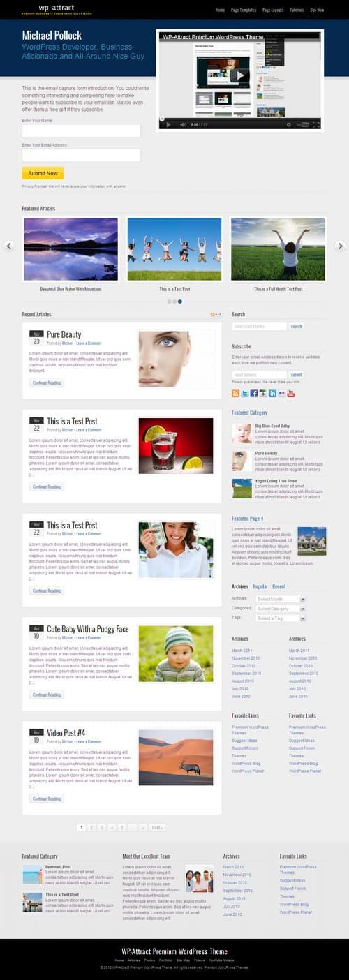 WP-Attract WordPress Theme