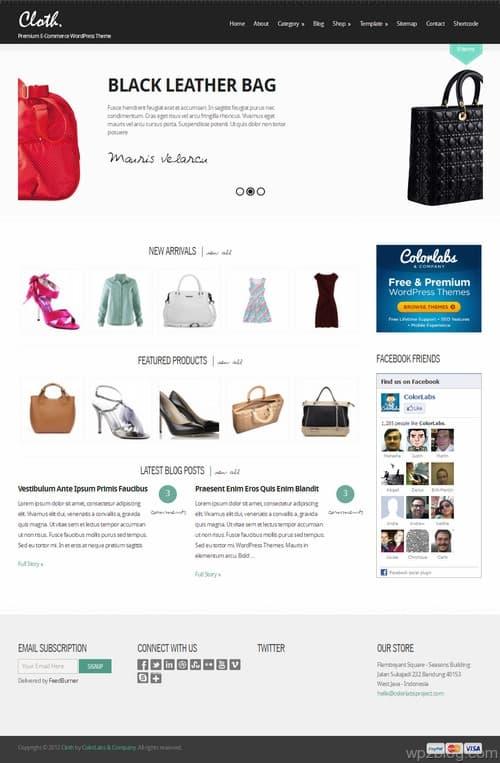 Cloth WordPress Theme