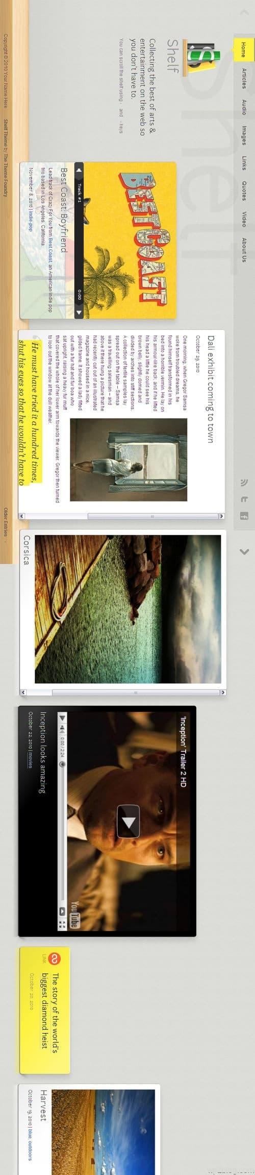 Shelf Tumblr & WordPress Theme Vertical