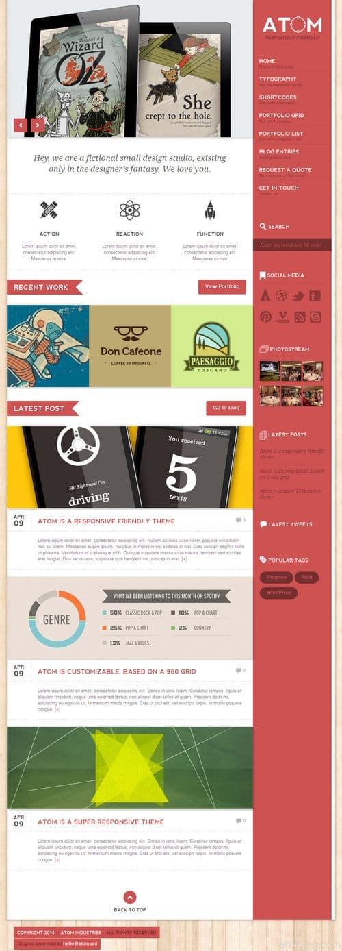 ATom WordPress Theme