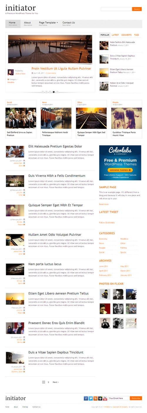 Initiator WordPress Theme