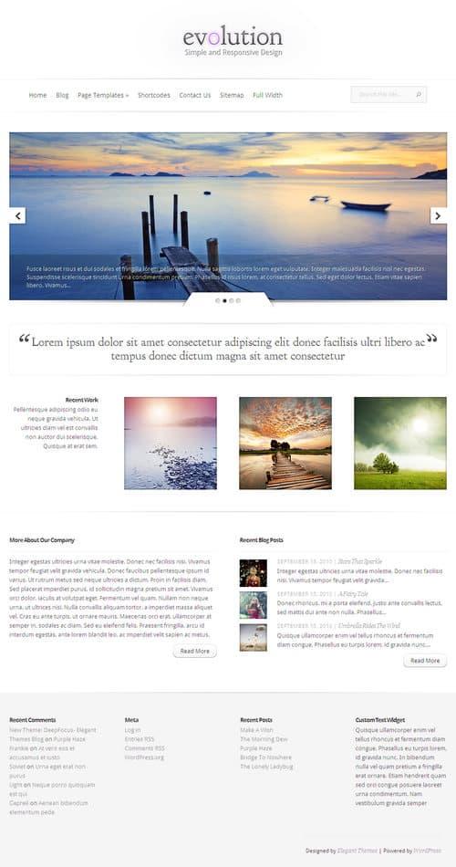 Evolution WordPress Theme