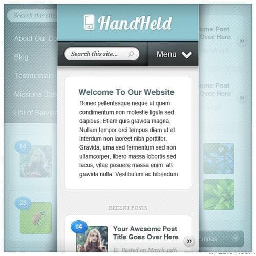 HandHeld WordPress Theme