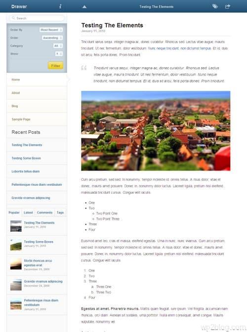 Drawar WordPress Theme