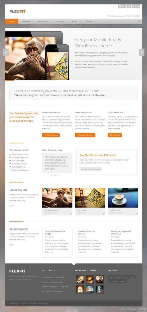 FlexFit WordPress Theme