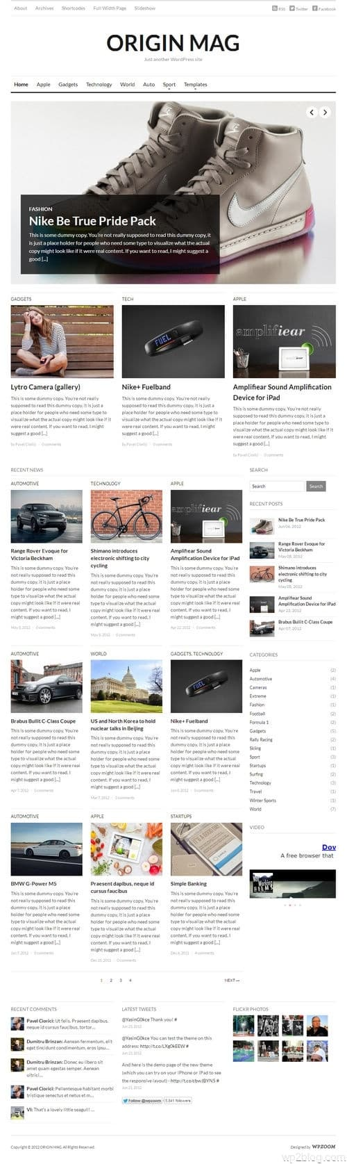 OriginMag WordPress Theme