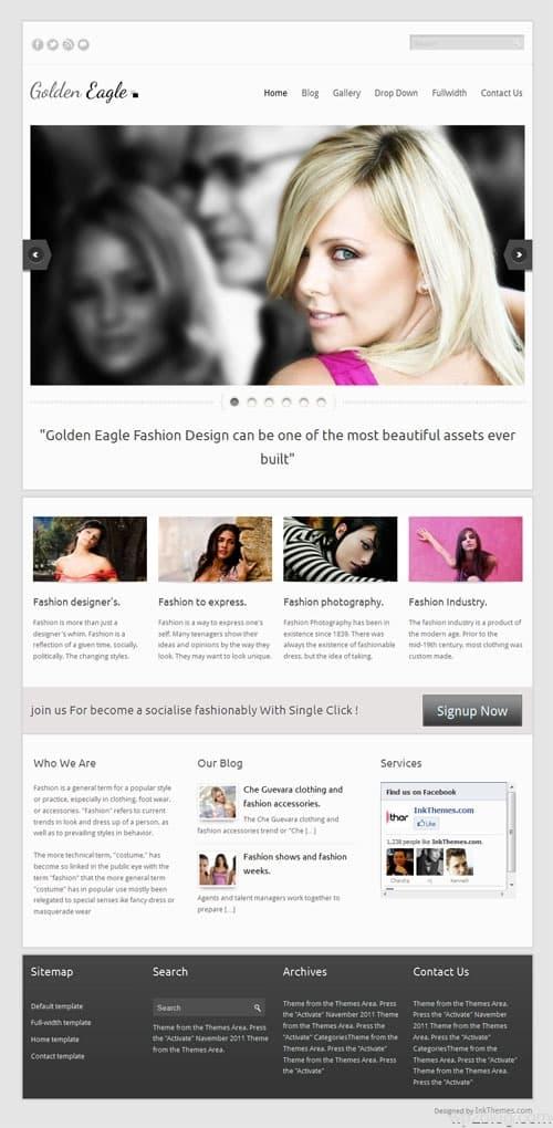 Golden Eagle WordPress Theme