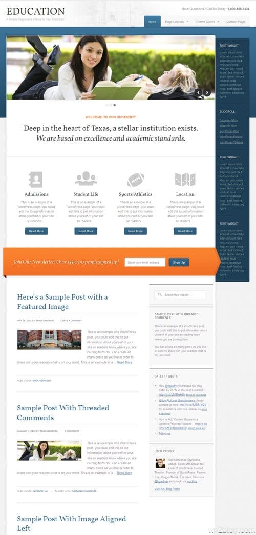 Education 2.0 WordPress Theme