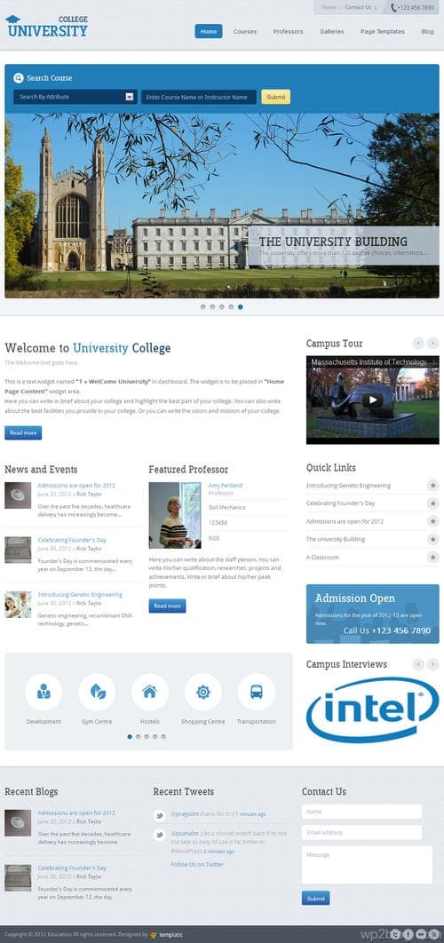 Education Academy WordPress Theme